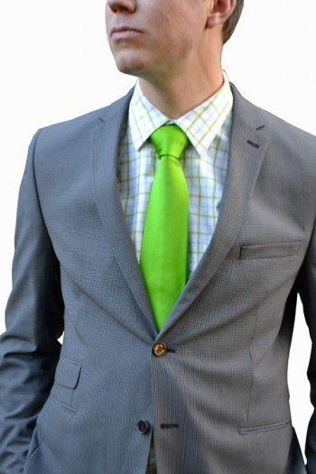 Necktie from Tieroom, Notch DANTE, solid bright green Notch