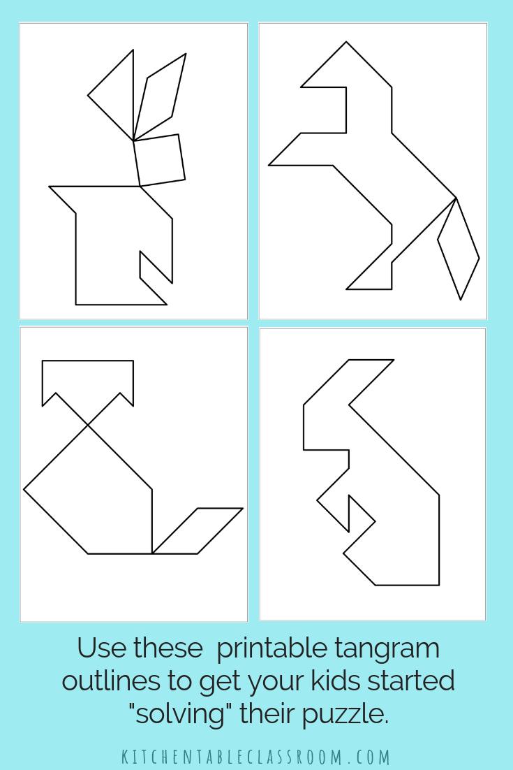 Printable Tangrams An Easy Diy Tangram Template The Kitchen Table Classroom Tangram Patterns Tangram Puzzles Tangram [ 1102 x 735 Pixel ]