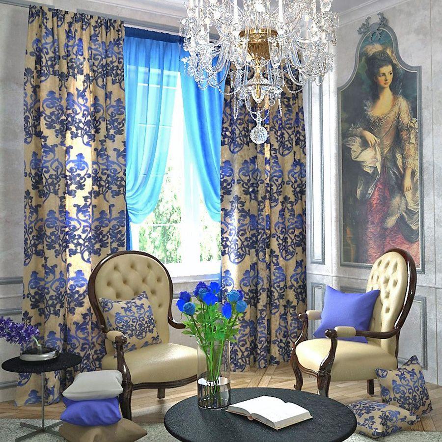 Лазурно-голубой в декоре интерьера