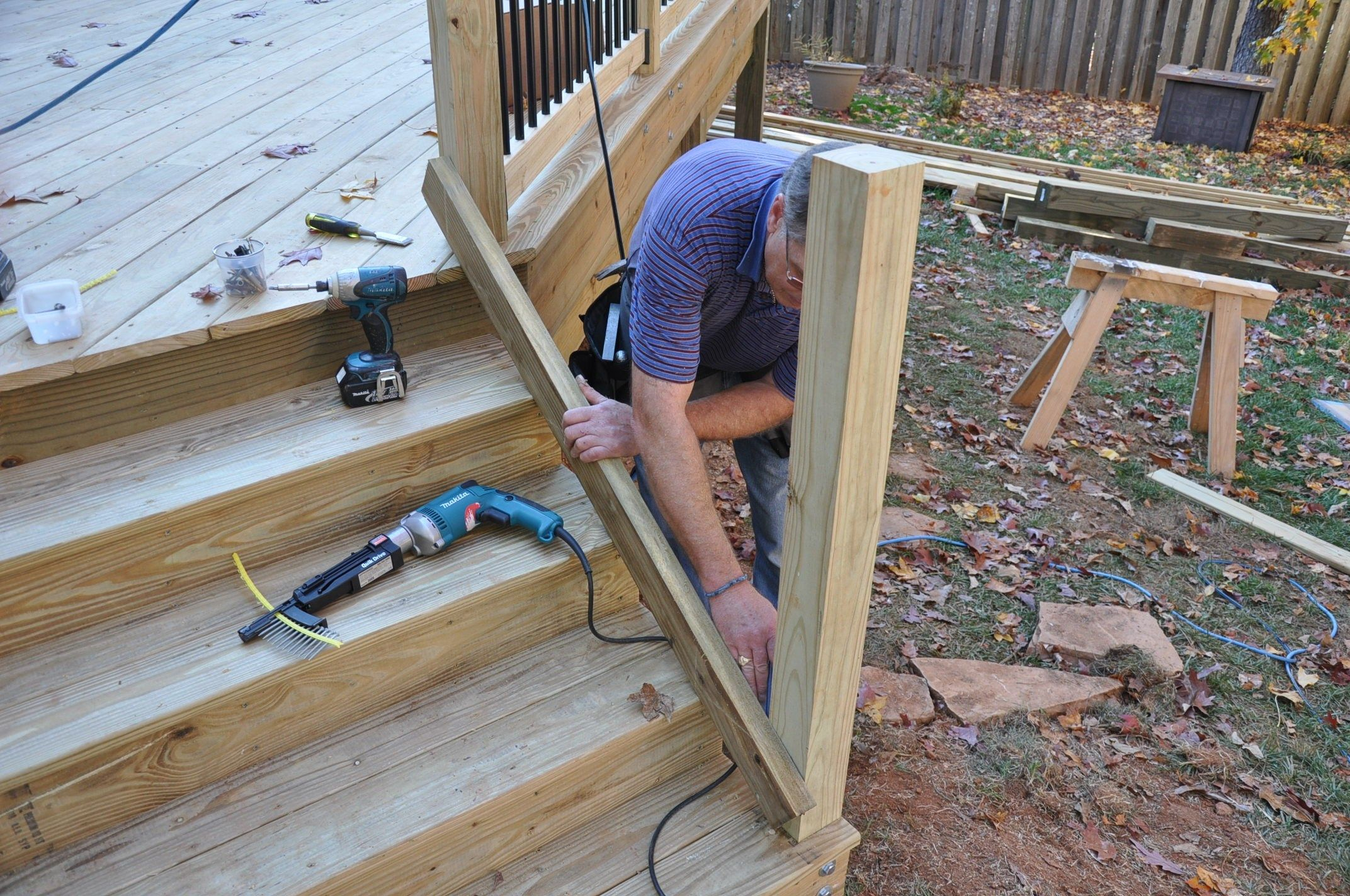 How to install a deck railing - Step By Step Instructions For How To Install Deck Stair Railings Learn About The Code