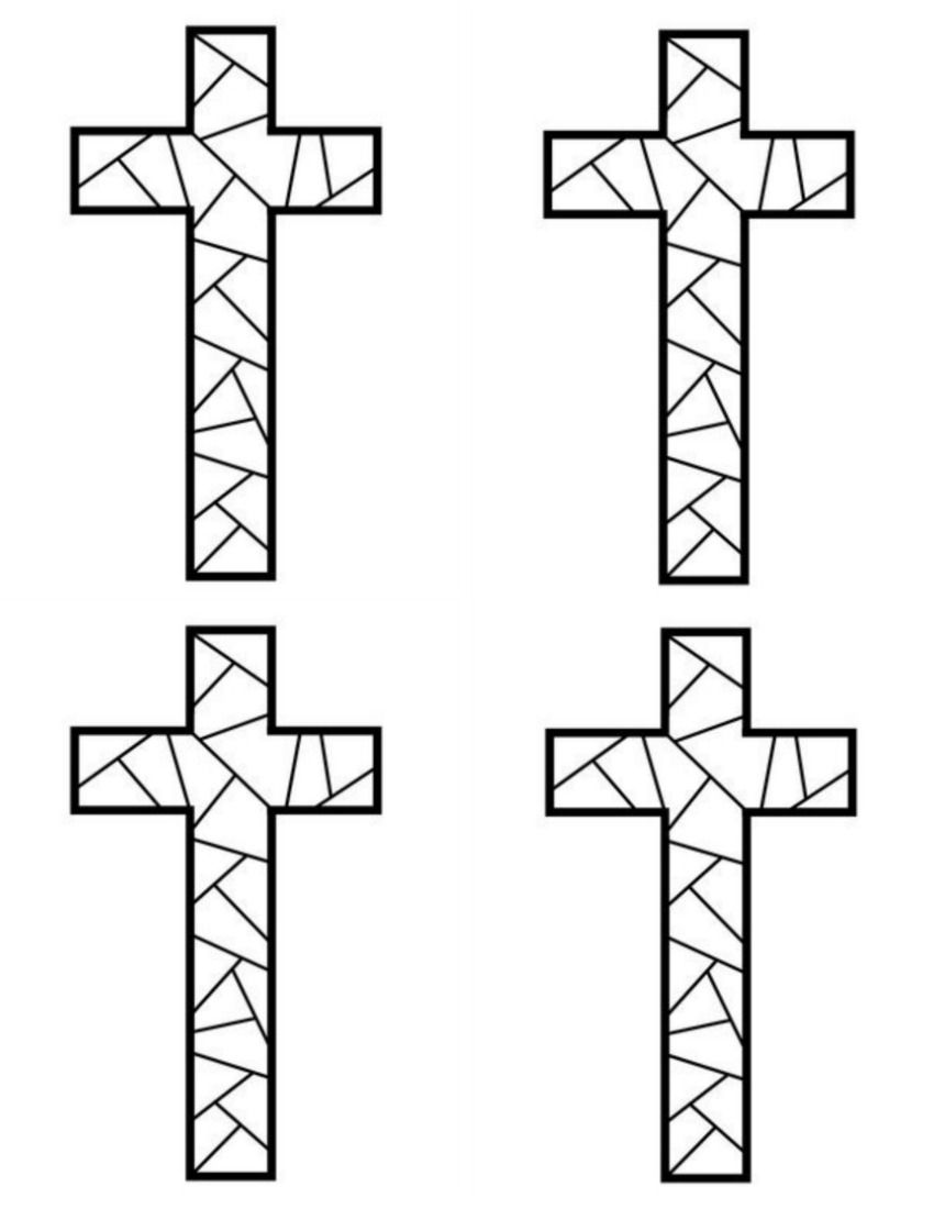 Free Printable Cross Coloring Pages Cross Coloring Page Free