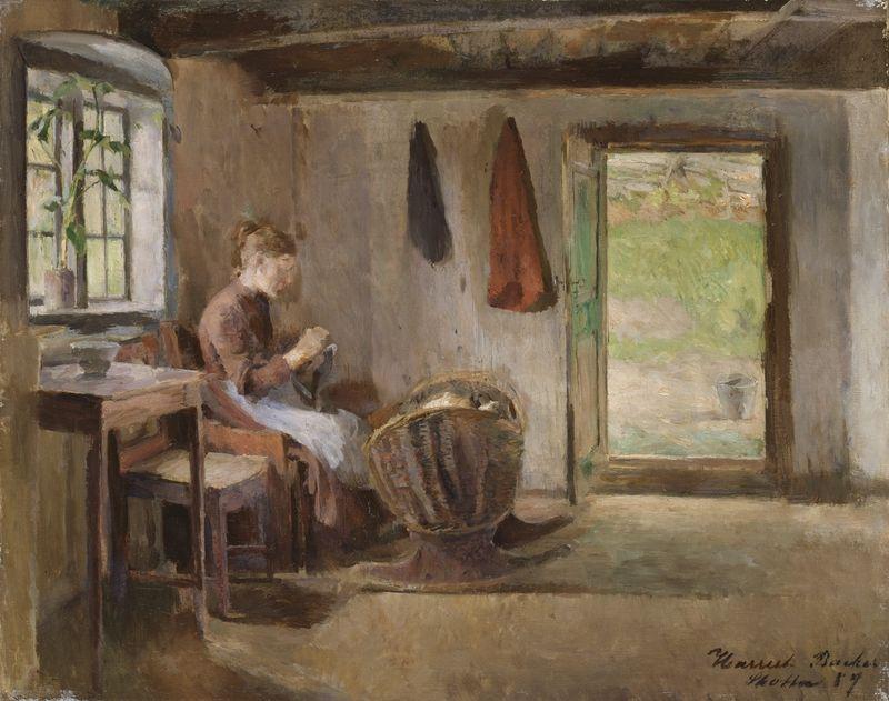 Harriet Backer, Bondeinteriør, Skotta i Bærum