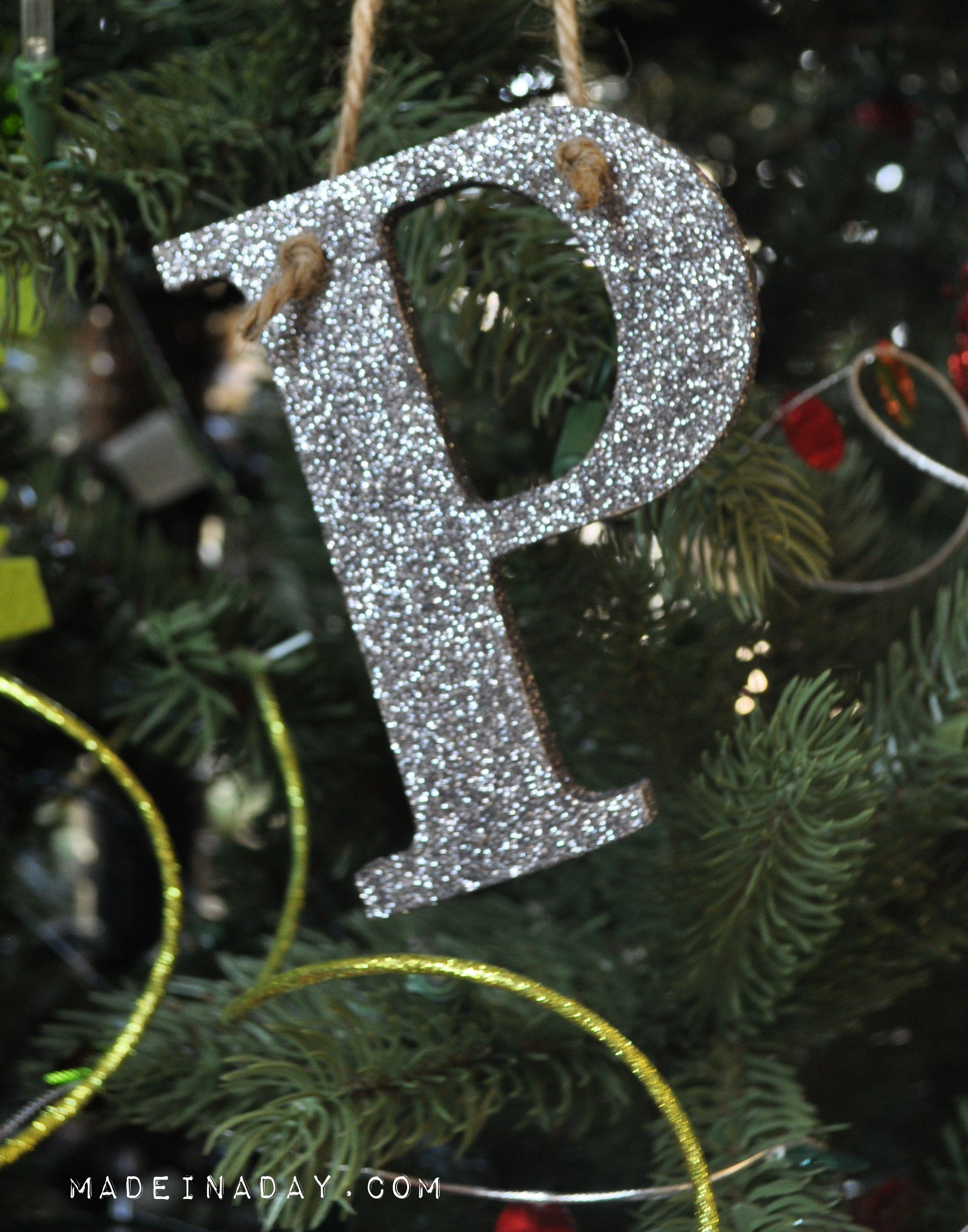 glitter alphabet ornament pottery barn hack easy craft glitter