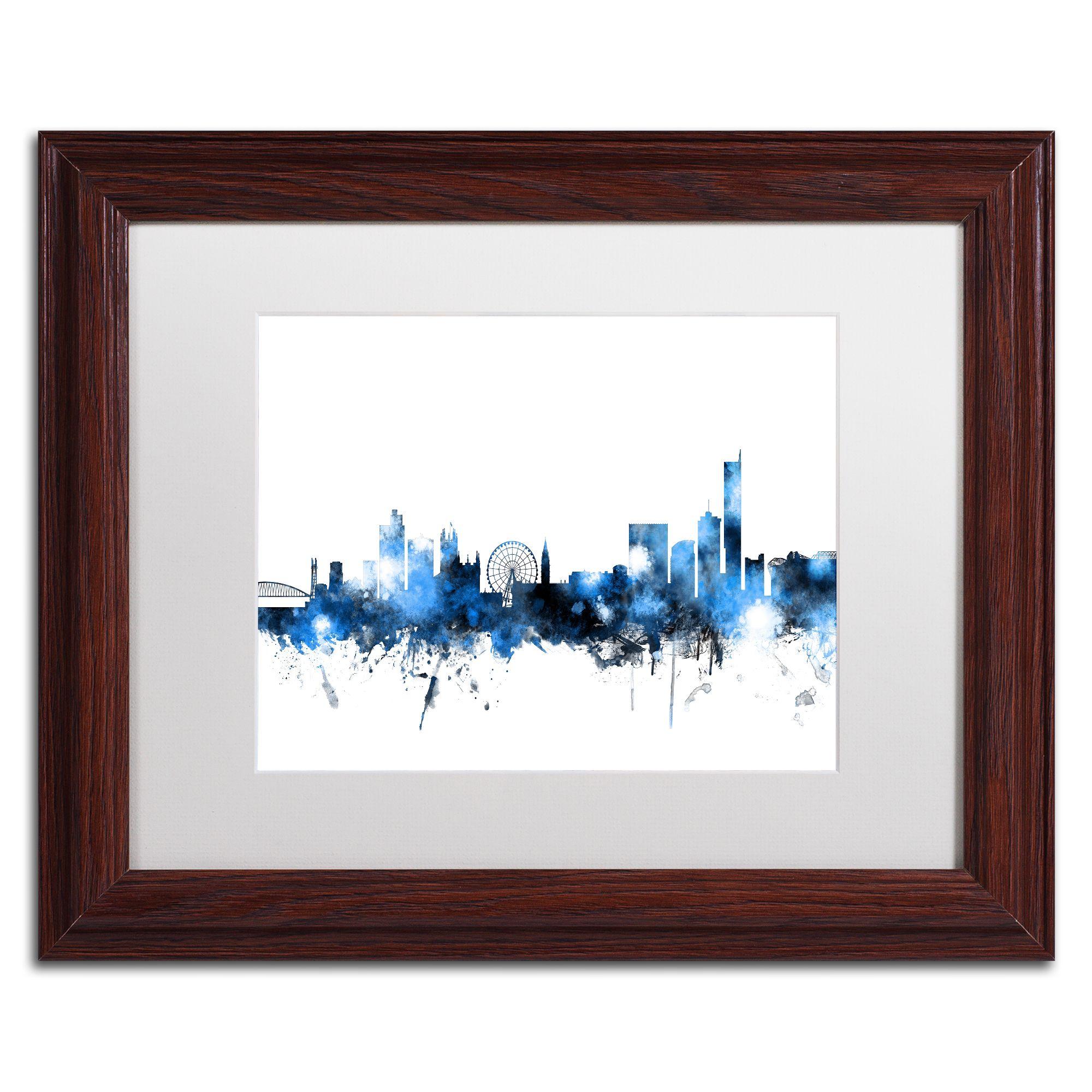 Michael Tompsett 'Manchester Skyline ' Matted Framed Art