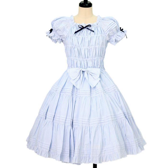 1782ee28fe661 ... ロリータ ゴスロリブランド服・古着の通販はワンダーウェルト. シャーリングドレス