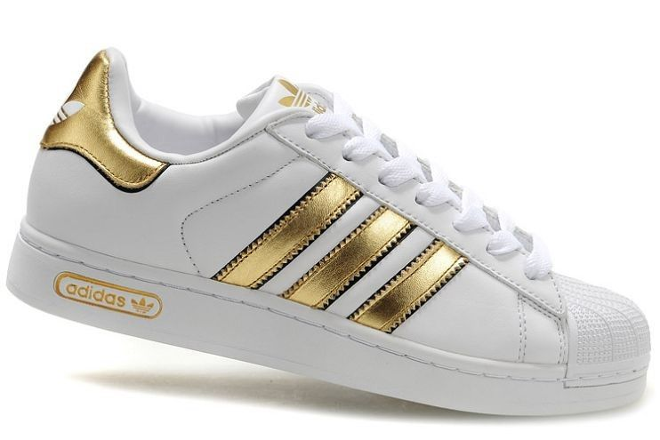 Women\u0027s Adidas Superstar 2.5 Trainer White Black Gold size 8 womens 6 1/2  kids