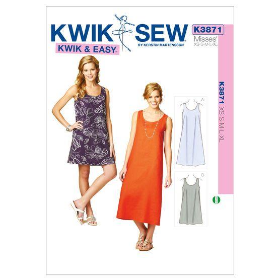 Mccall Pattern K3871 Xs-S-M-L-X-Kwik Sew Pattern