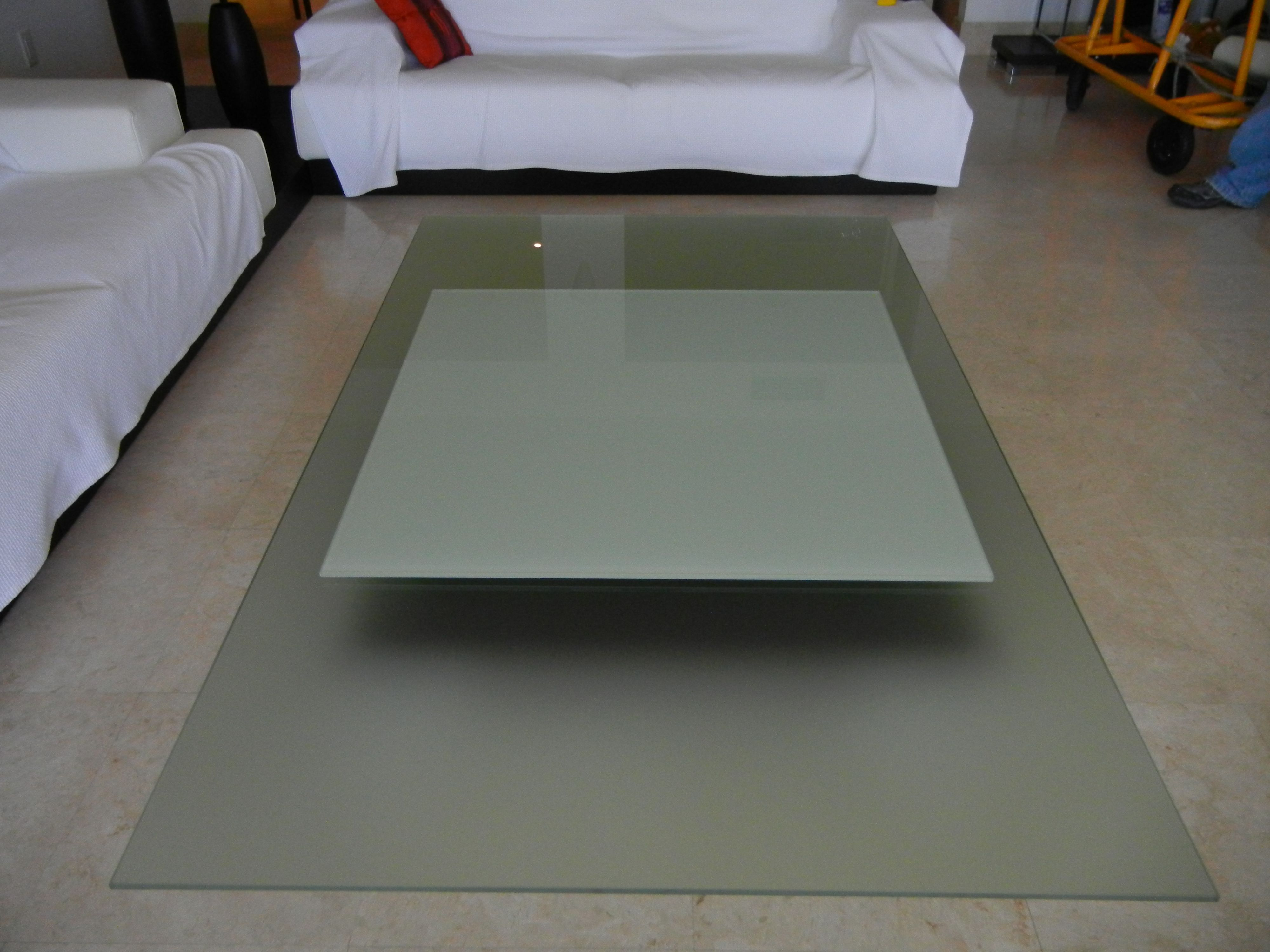 Frosted And Painted Table Top Glass Green America Glass