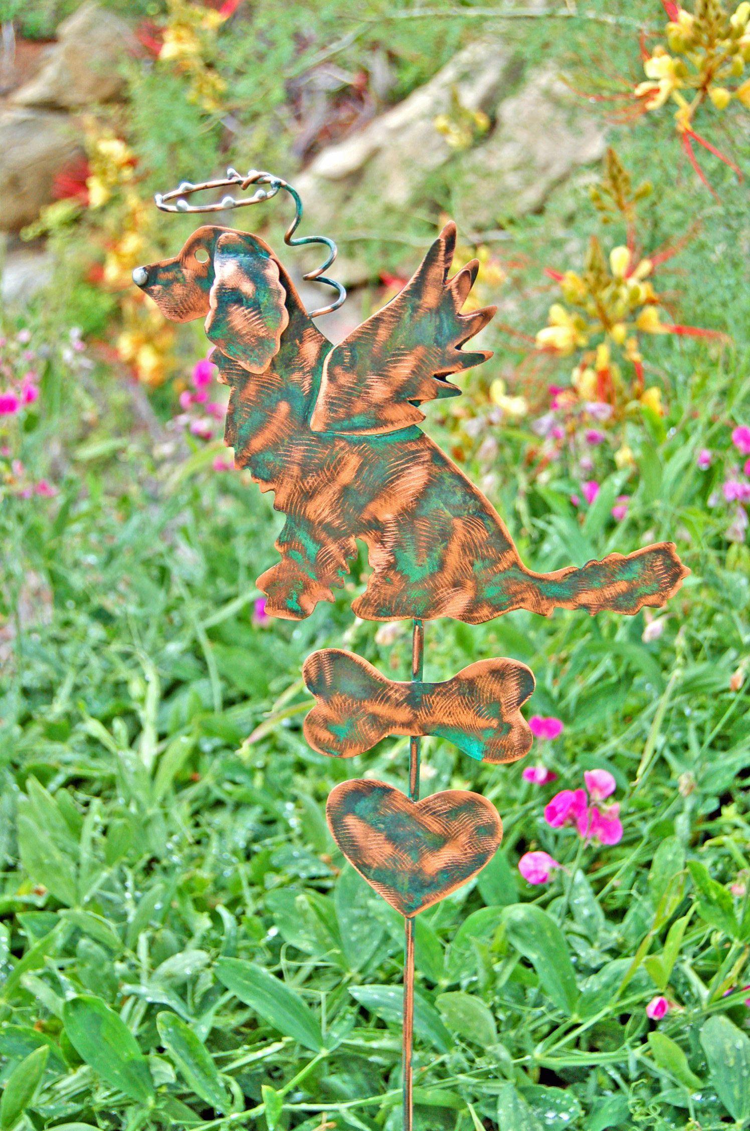 Ordinaire Golden Retriever Metal Garden Art Pet Memorial Garden Stake,Yard Art, Garden  Copper Art, Angel Pet, Outdoor Pet Sculpture Grave Marker