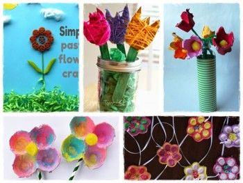 60 bricolages de printemps en fleurs et en couleurs - Fleurs printemps maternelle ...
