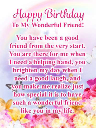 good friends are special