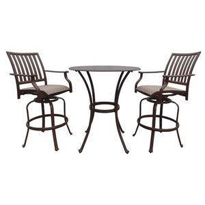 bar height patio sets panama jack outdoor island breeze 3 piece slatted pub dining set