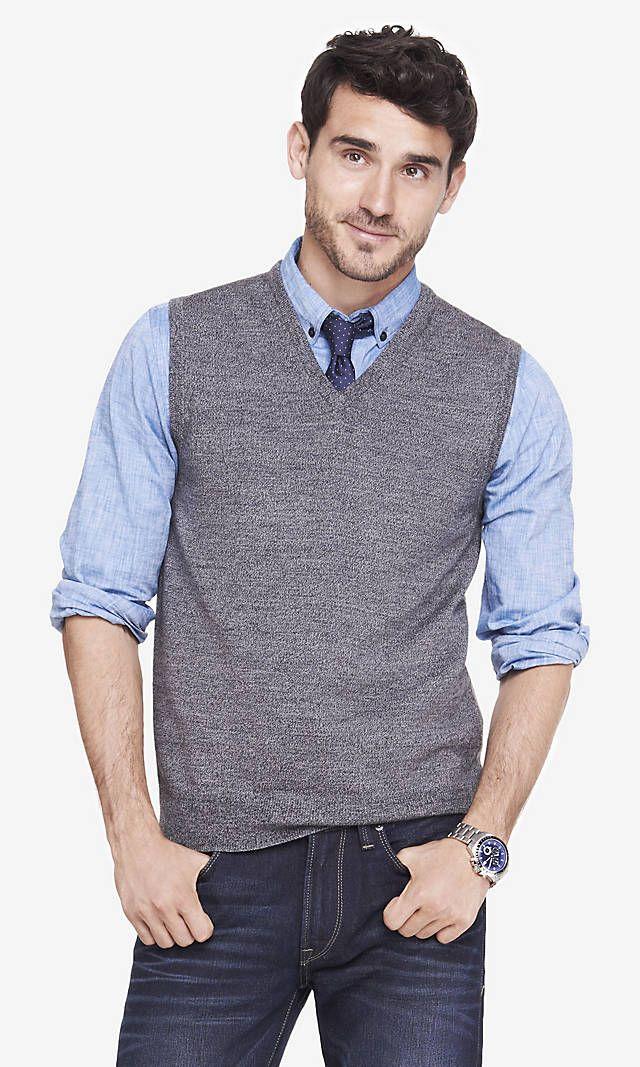 Vest Trui.Merino Sweater Vest Express Work Fashion In 2019 Sweater Vest