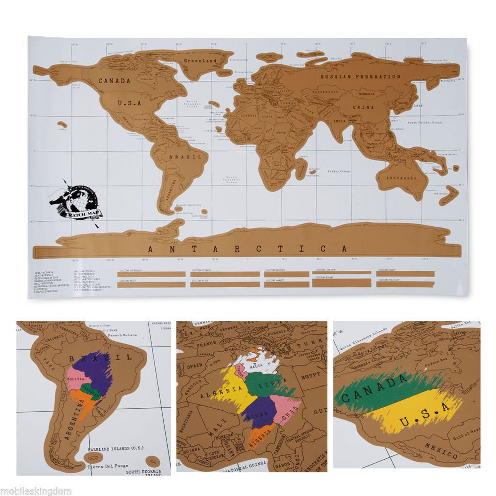 Deluxe travel edition scratch off world map poster personalized deluxe travel edition scratch off world map poster personalized journal log gift gumiabroncs Images