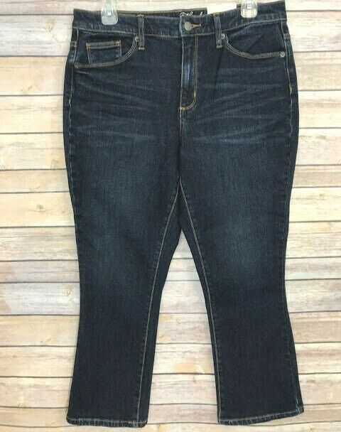 22eb48150f6a NWT Universal Thread Womens Crop Jeans Size 10 High Rise Kick Boot Dark  Denim  UniversalThread