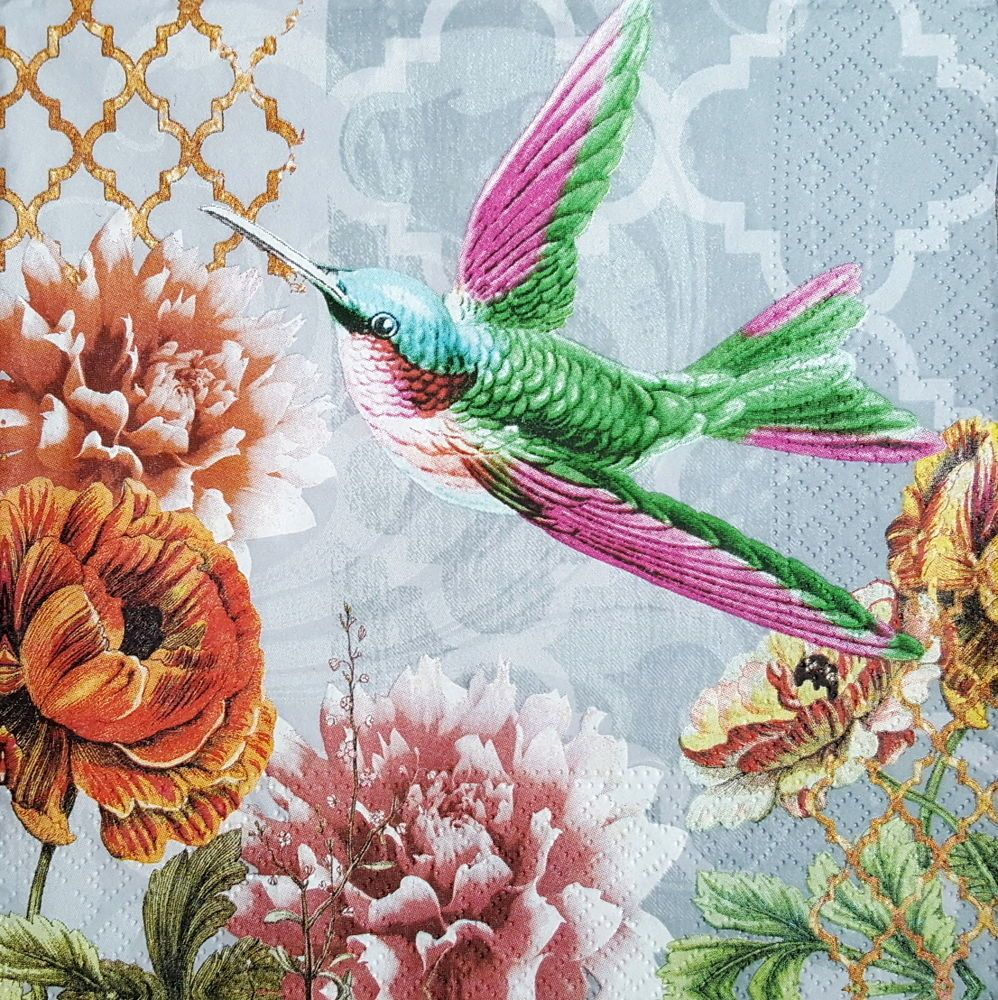 4 vintage paper napkins for decoupage lunch decopatch craft party flying bird