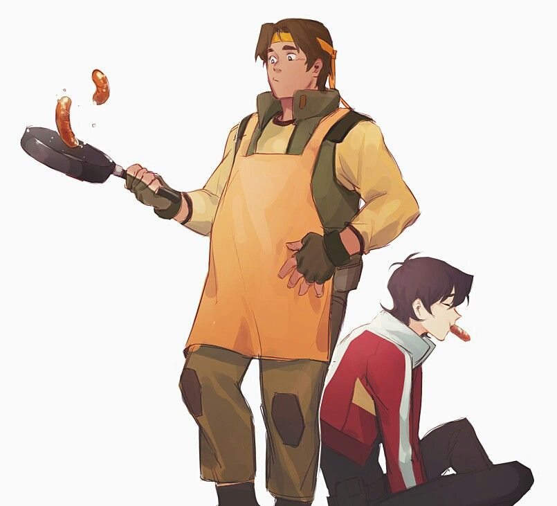 VLD fanart - Hunk and Keith breakfast space friends