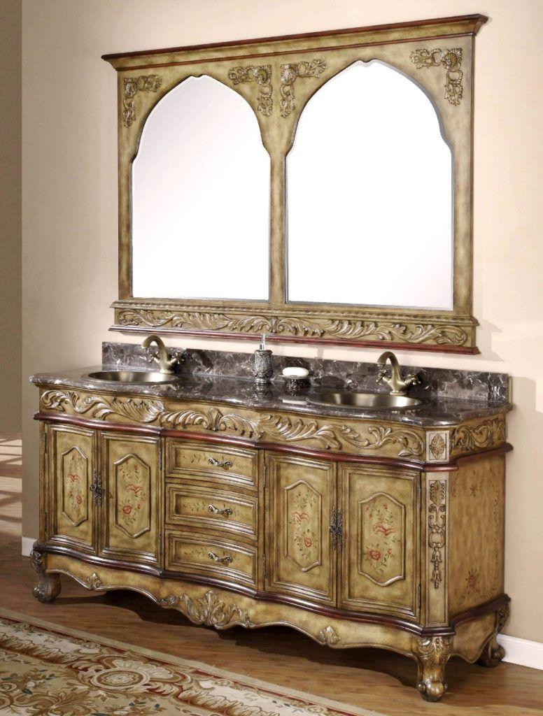 Old world style bathroom vanity bath rugs u vanities pinterest
