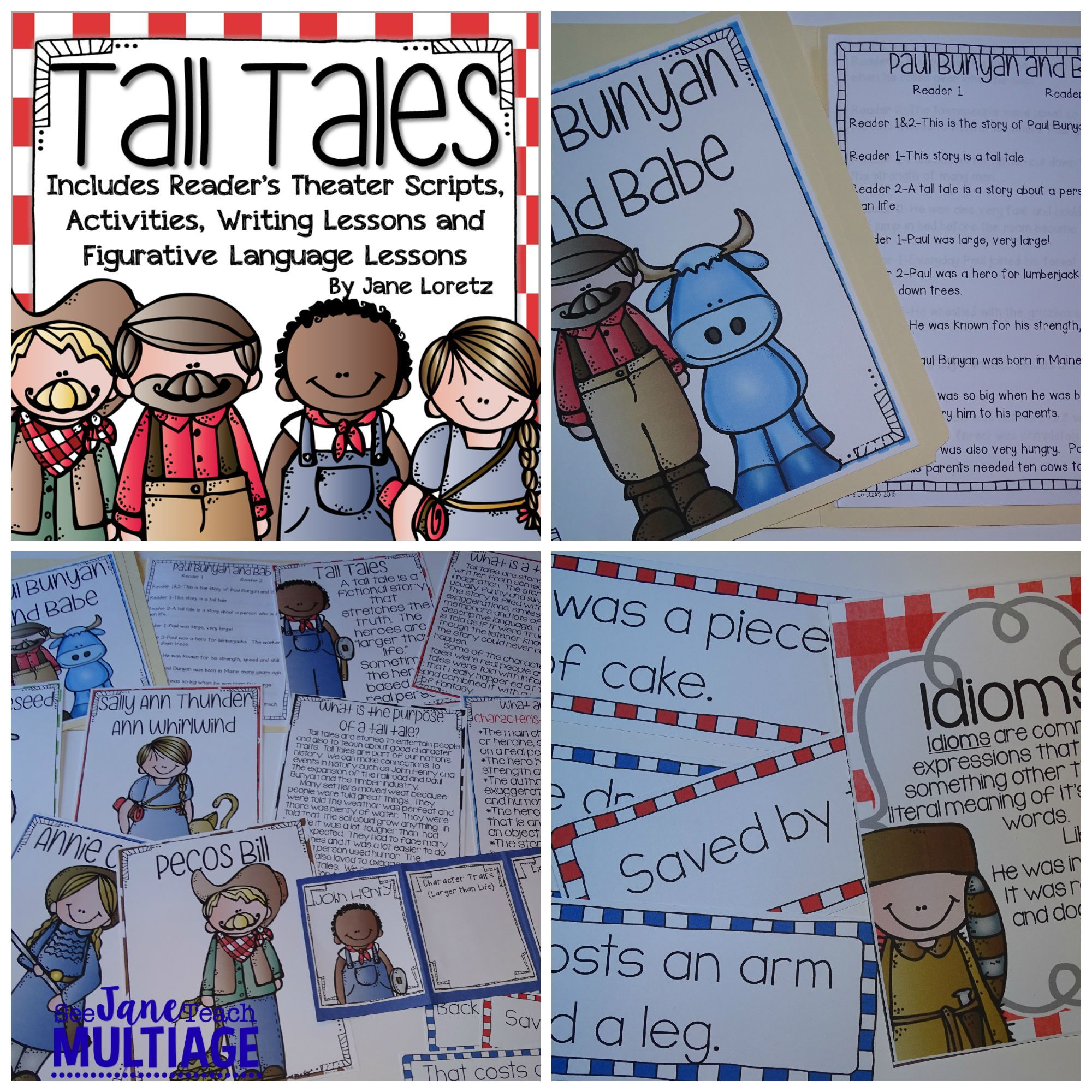 Tall Tales Reader S Theater Activities And Figurative