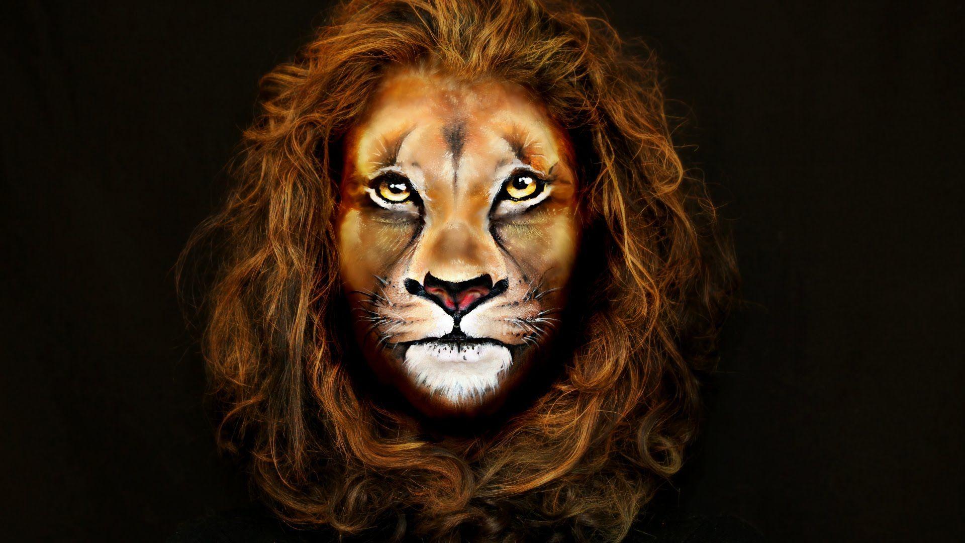 Lion Makeup & Face Painting Tutorial — Аквагрим Лев Lion