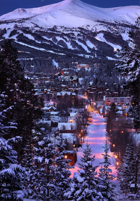 Christmas In Colorado Mountains.Breckenridge Colorado Mountains Winter Christmas