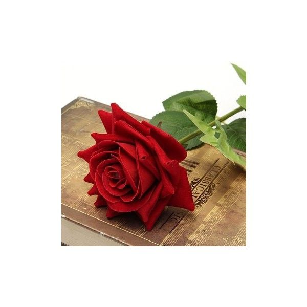 Single Fabric Rose Artificial Fake Flower Bouquet Wedding Party Home