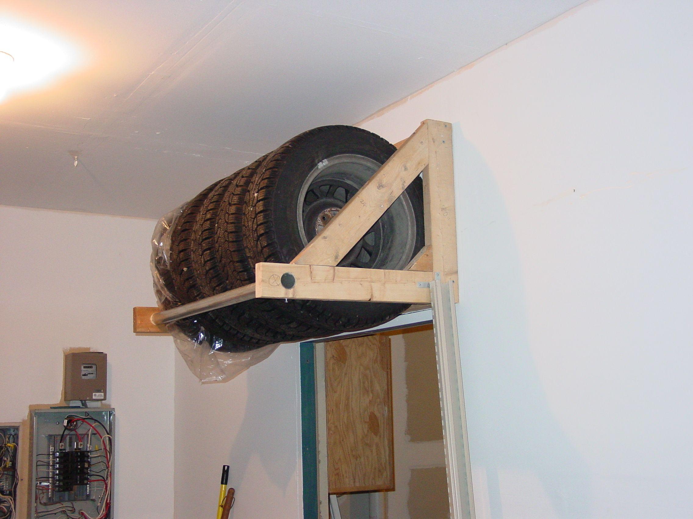 Tire Storage Or Rack The Garage Journal Board Tire Storage Garage Organization Garage Organization Diy