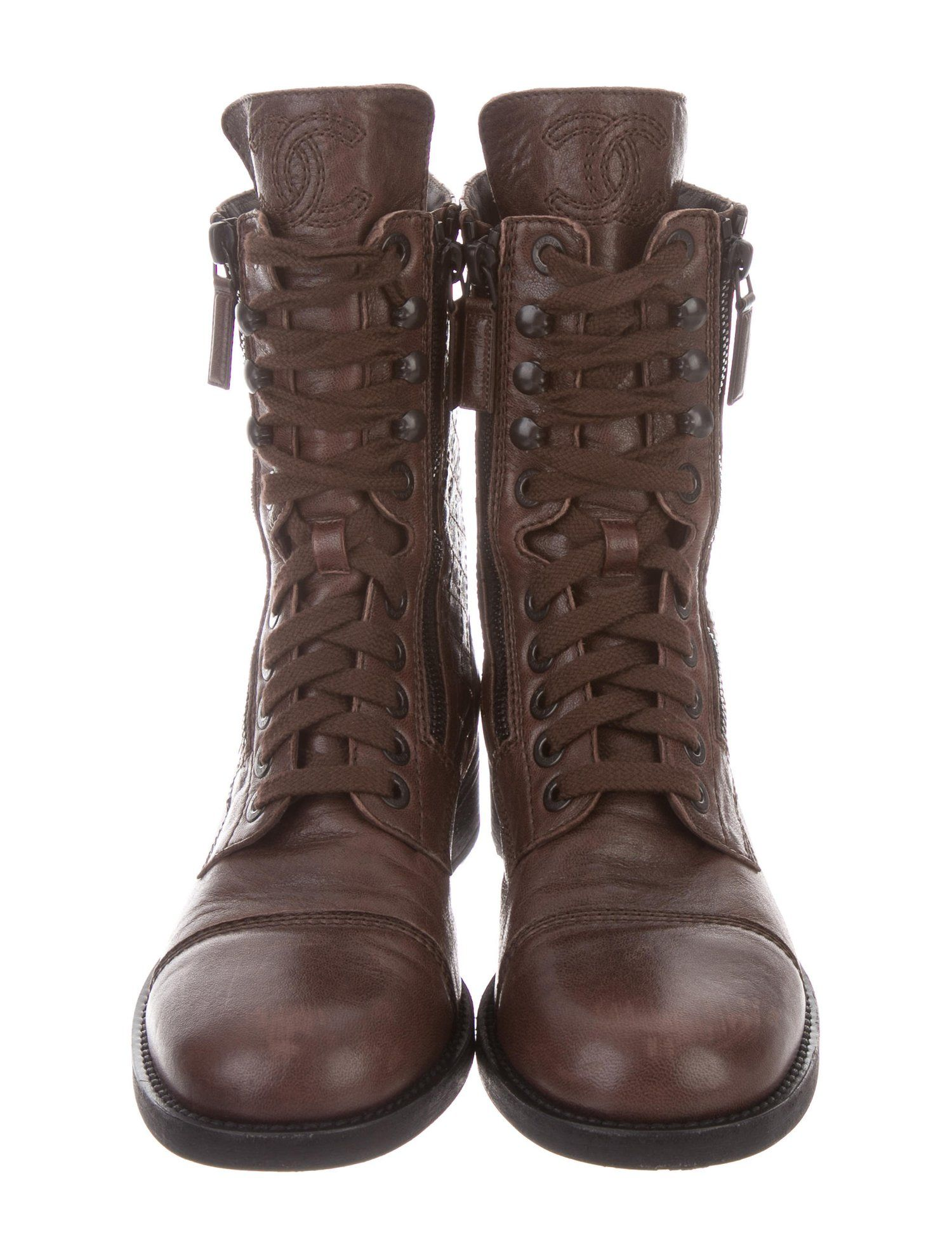 bd466206845 Chanel Quilted Combat Boots  Quilted  Chanel  Boots