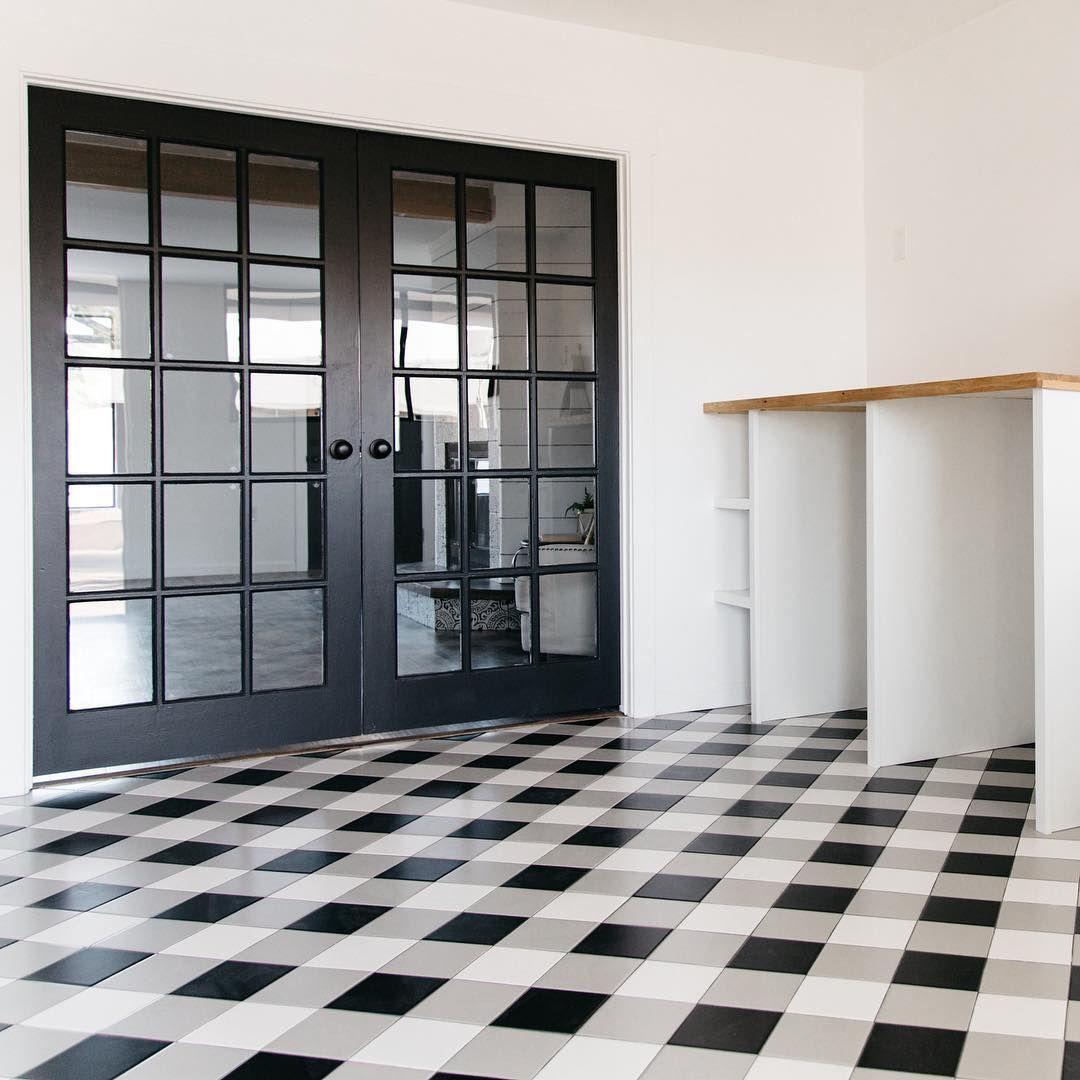 Who Wants A Buffalo Check Mudroom Floor We Do Sometimes I Feel Like We See The Same Tile Over And Mudroom Flooring Flooring Vinyl Flooring Kitchen