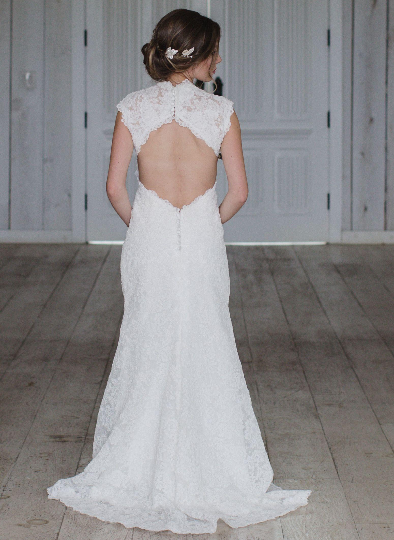 Wedding dress back  Wedding Dress Keyhole Open back lace vintage  Timeless  Pinterest