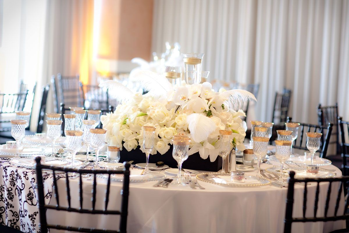 Black White And Gold Weddings With Floral By Karen Tran