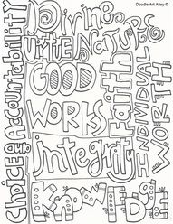 LDS Young Women Themed Doodle Pages