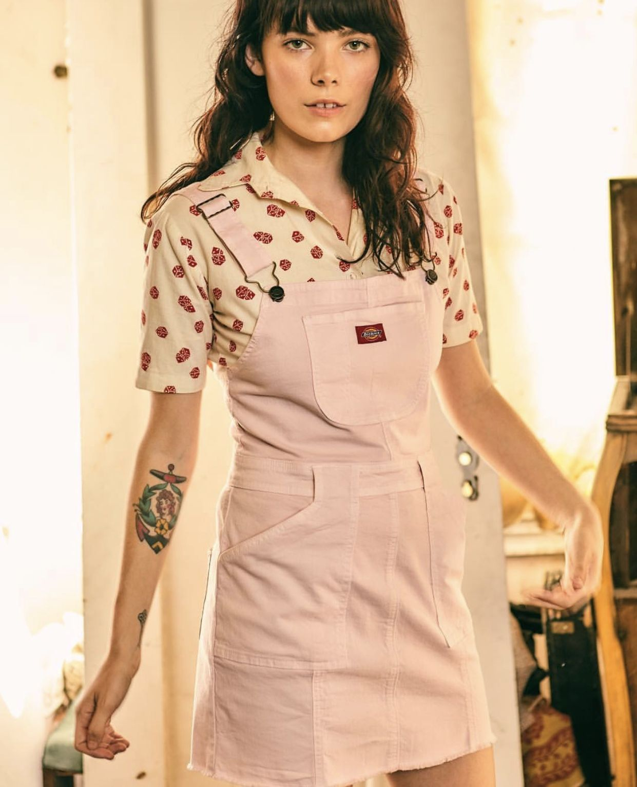 a7bb9a78bd Dickies Overall Dress available at Urban Outfitters  Dickies   Urbanoutfitters  pink  overalls