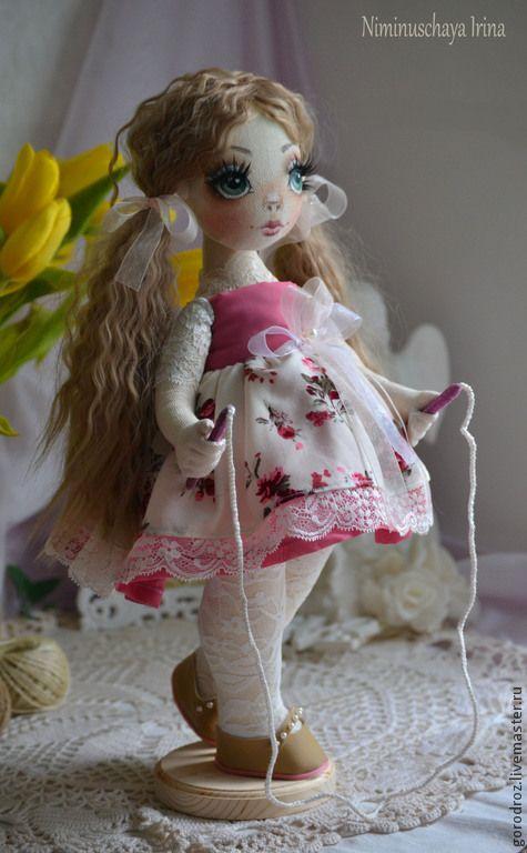 Ниночка, Авторская куколка ручной работы! - бледно-розовый,кудри,весна