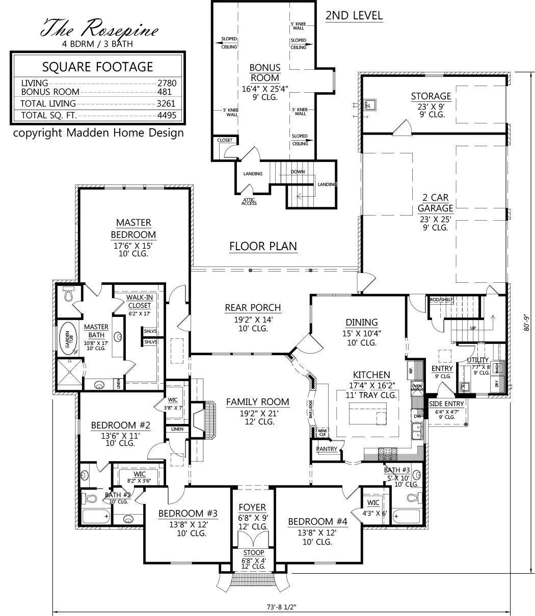 The Rosepine Madden Home Design Designer Home Plans Madden Home Design Acadian House Plans House Plans