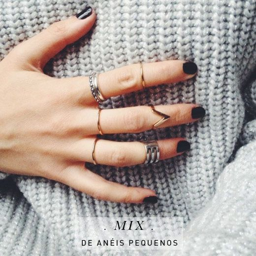 os Achados | Joias | Mix anéis pequenos