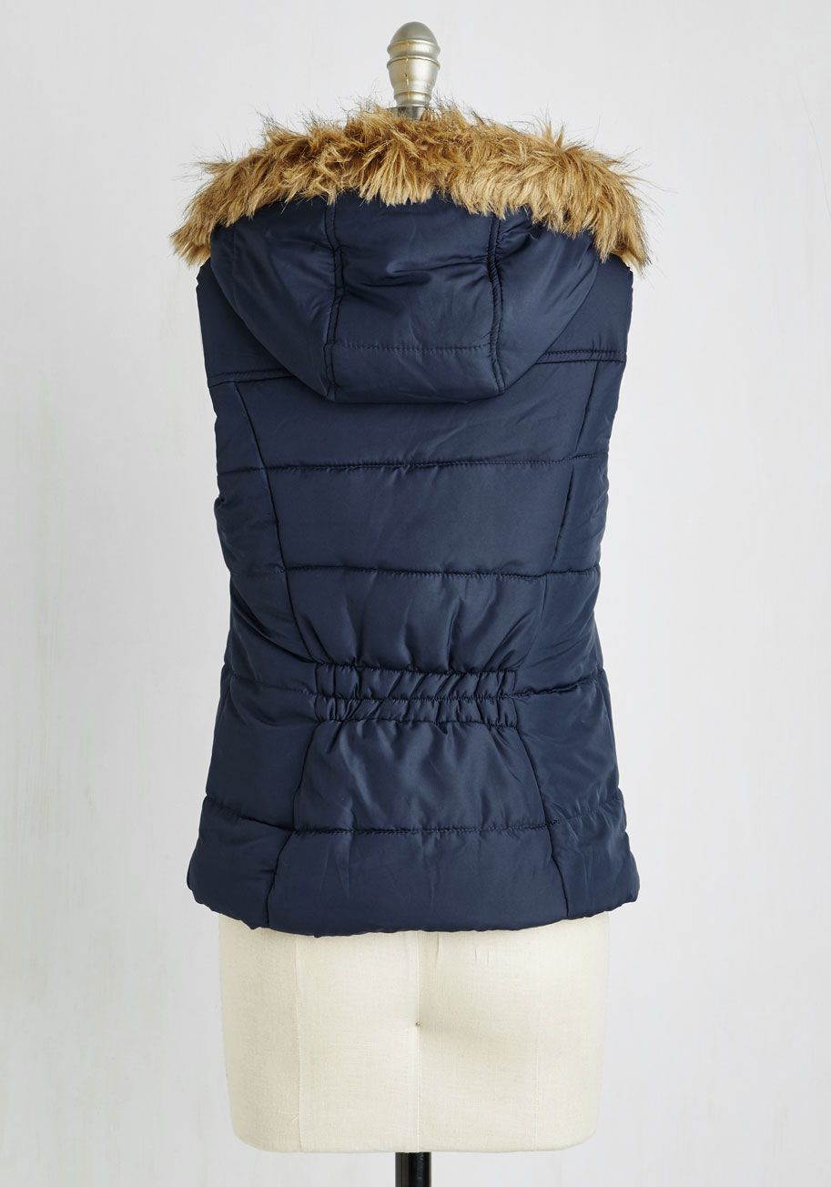 I Propose a Toasty! Vest. Show off style worth celebrating by adding this navy vest atop your finest chilly weather attire! #blue #modcloth