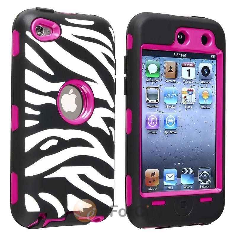 Apple iPod Touch 5 T ARMOR HYBRID CASE SKIN COVER ACCESSORY ZEBRA BLACK//WHITE