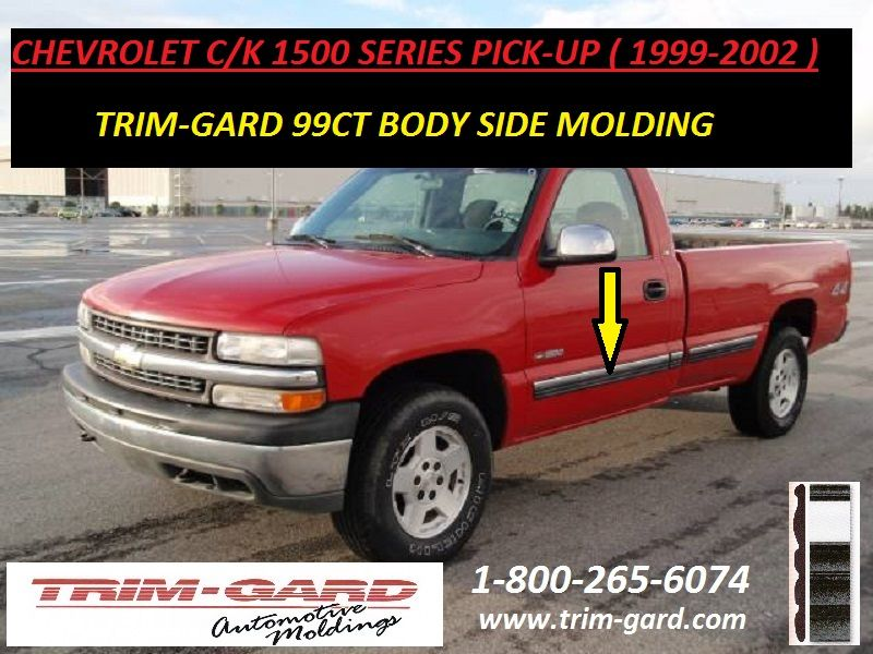 1999 2000 2001 2002 Chevrolet C K 1500 Pick Up Body Side Molding Trim Gard Manufacturers The Chevy C K 1500 Moldings And Trim Chevrolet Chevrolet Silverado