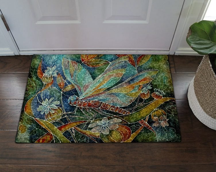 Dragonfly Tn200809mm Doormat In 2020 Door Mat Decor Vivid Colors
