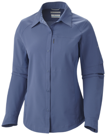 0d3b178103b Columbia Women s Silver Ridge Long-Sleeve Shirt Bluebell XL ...
