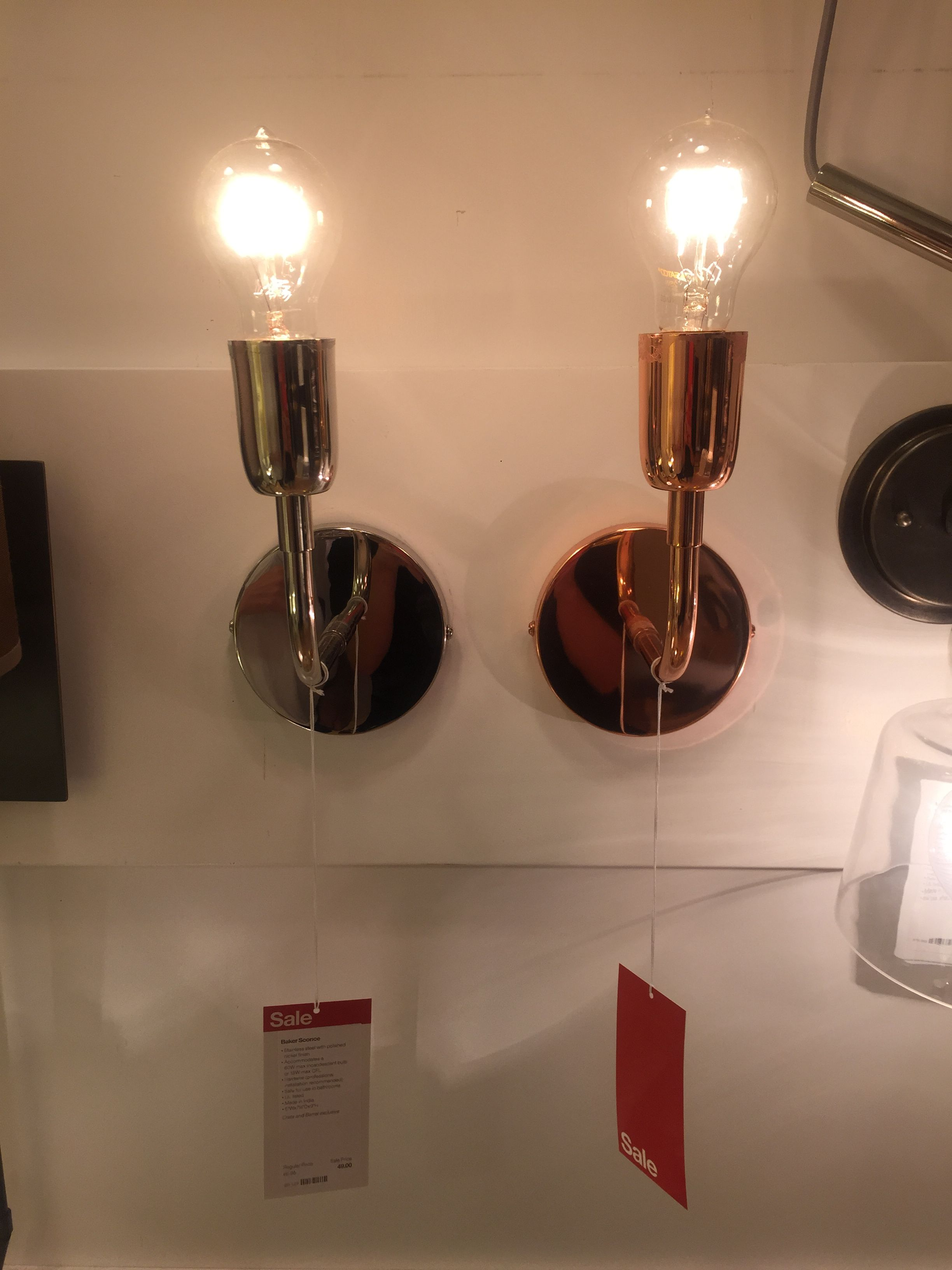 Crate and Barrel Light Light, Wall lights, Crate and barrel