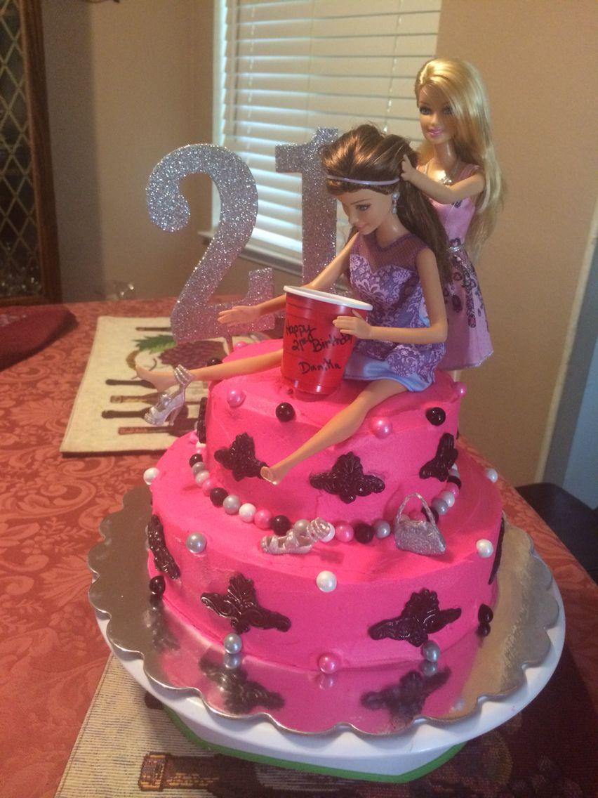21st Barbie cake Cakes Pinterest 21st Cake and 21st birthday