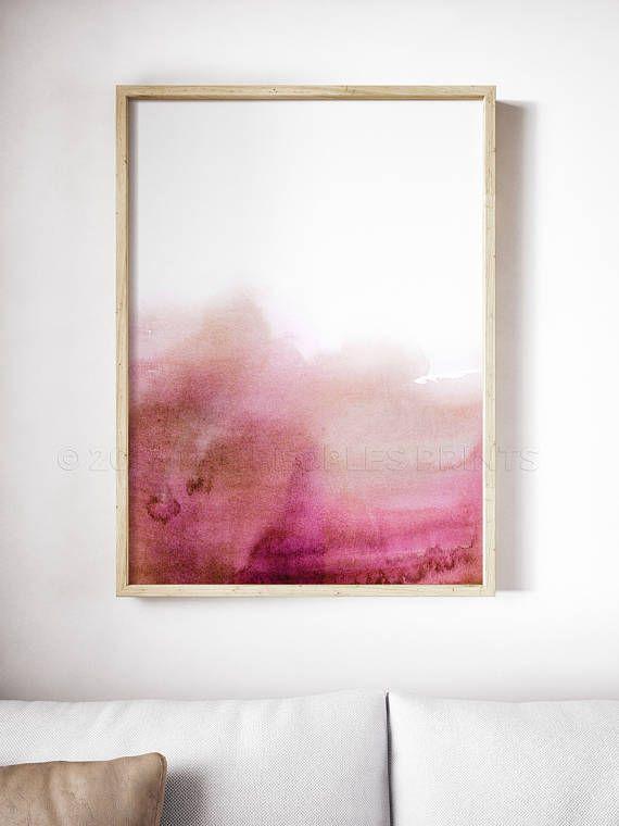 Pink Watercolor Print Abstract Art Millennial Pink Wall Art Blush Pink Hot Pink Home Decor A Pink Abstract Art Pink Art Print Canvas Painting Diy