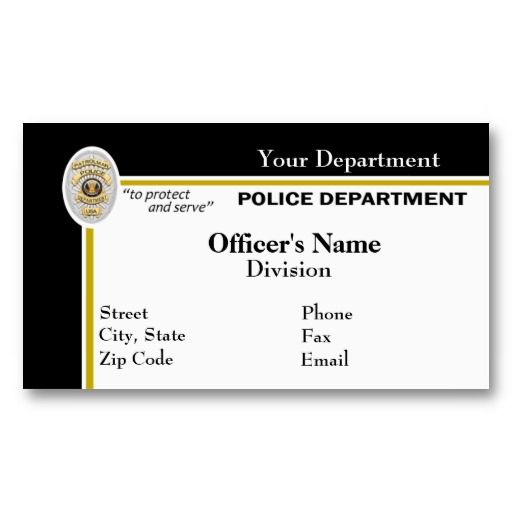 Police Business Card Zazzle Com Card Templates Customizable Business Cards White Business Card