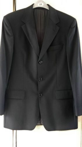 d6e323dae1e6 Hugo Boss Jacket Da Vinci Lucca Size 38 Mens Black 100% Virgin Wool ...
