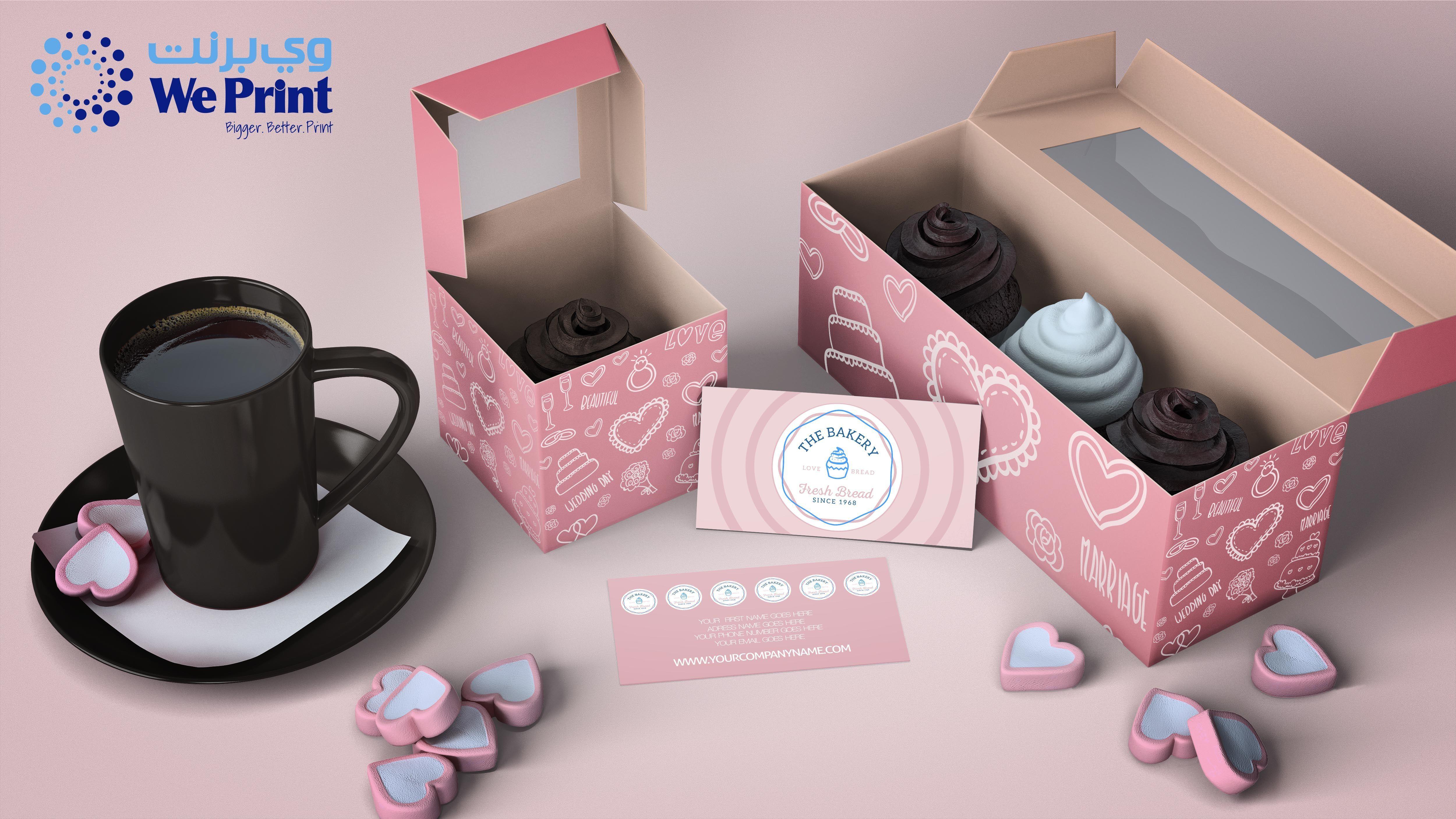 Download Digitalprintingdubai Custompackagingdubai Uvprintingdubai Packagingdubai Infoweprintme Printingd Cupcake Packaging Branding Mockups Free Branding Mockups