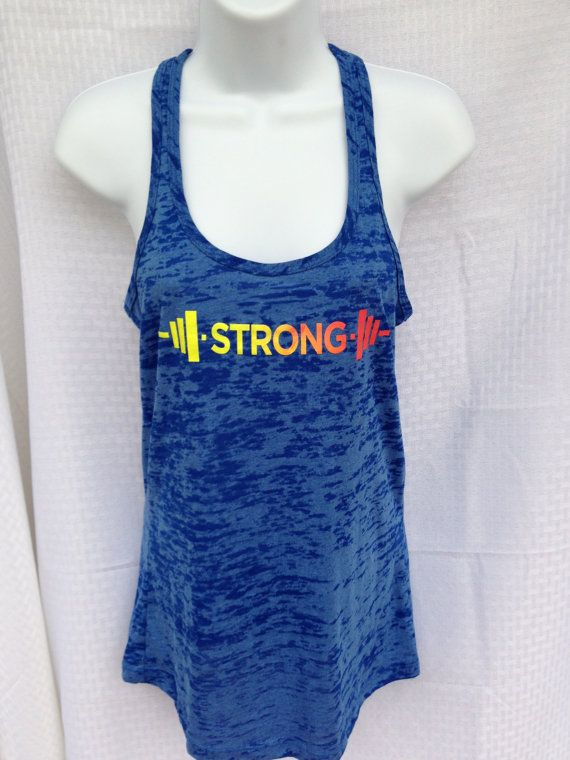 STRONG Burnout Crossfit Tank by GarageChicApparel on Etsy, $27.00