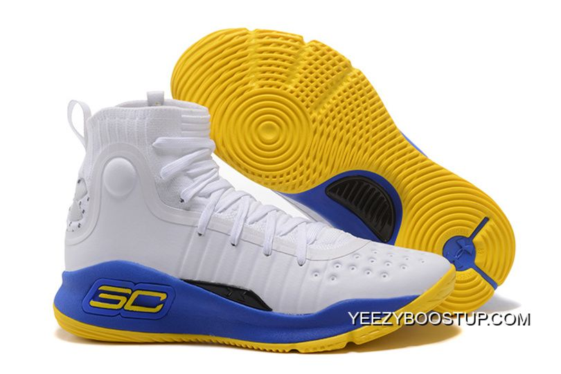 Under Armour Curry 4 Basketball Shoes White Blue Yellow Top Deals, Price:  $90.21 - adidas Yeezy Boost All Free Shipping