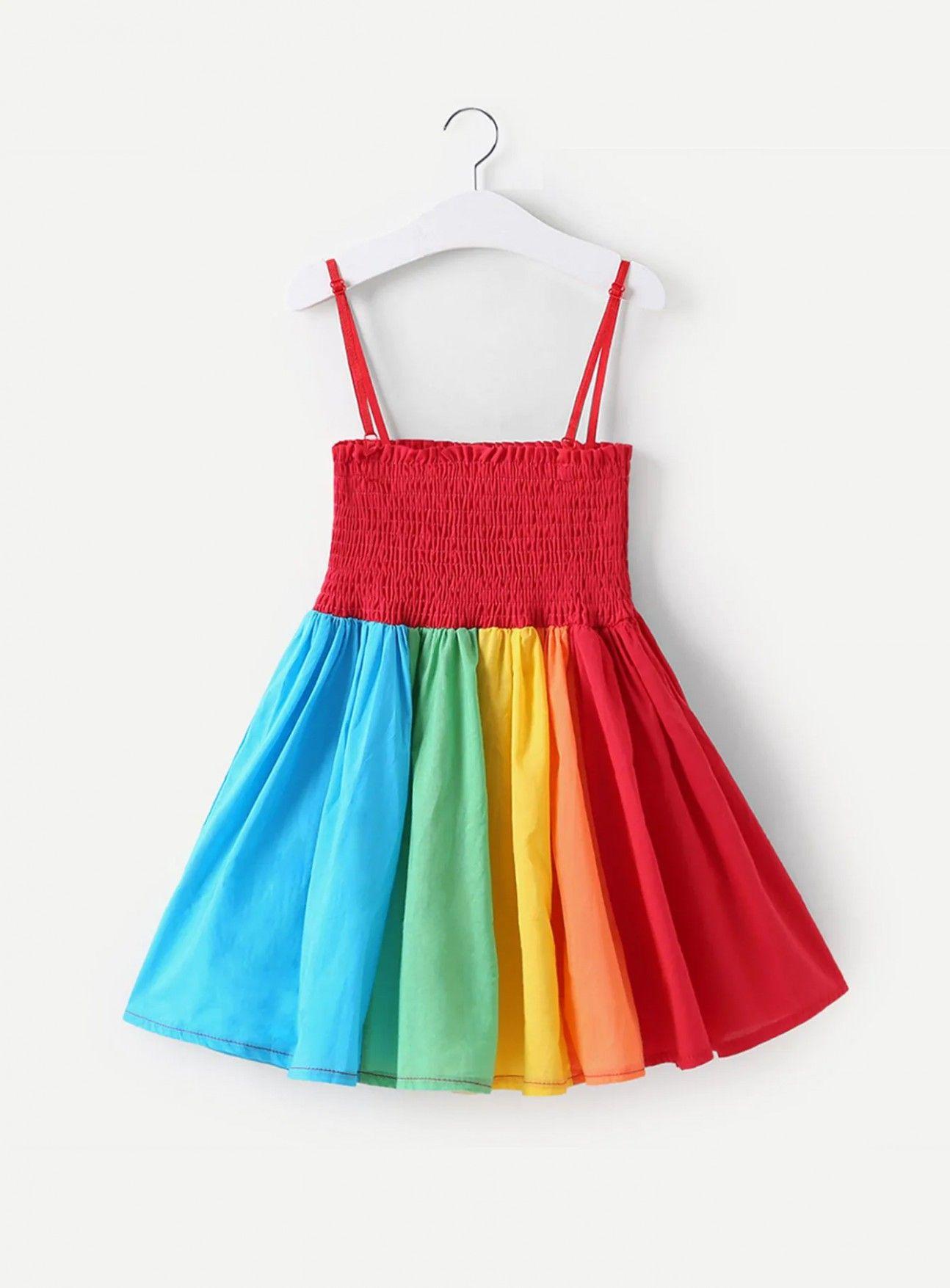 9 Toddler Girls Colourful Striped Cami Dress Toddler Girl Dresses Girls Dresses Summer Toddler Girl Summer [ 1755 x 1294 Pixel ]